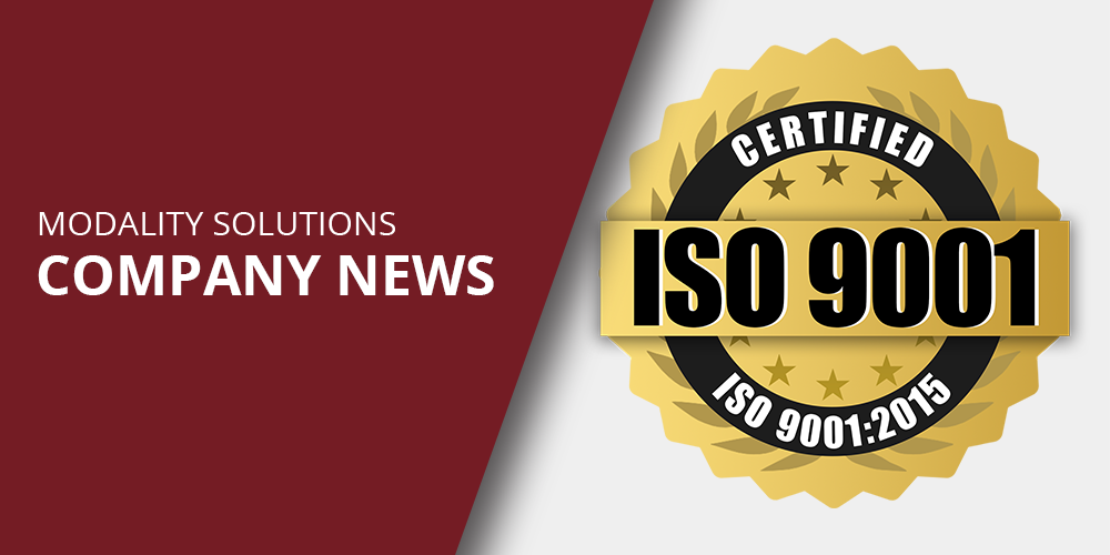 Modality Solutions Announces ISO 9001:2015 Certification